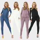 Trendy Women Bodycon Stretch Romper Long Sleeve Jumpsuit Playsuit Pant One Piece
