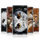HEAD CASE ANIMAL FACES GEL BACK CASE COVER FOR SONY XPERIA SP C5303