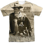 John Wayne Stoic Cowboy Licensed Sublimation Poly Adult Shirt S-3XL