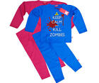 Stardust KILL ZOMBIES PYJAMAS/SLEEPWEAR Unisex Child/Kids Clothing Cotton BN