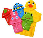 Practical Cartoon Kids Comfy Toddler Boy Girl Hooded Rain Coat Raincoat NEW JRAU