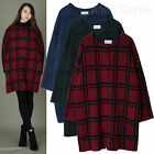 AnnaKastle Womens Collarless Checked Coat Knit Coatigan size M - L