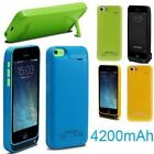 4200mAh External Battery Backup Pack Power Bank Charger Case For iPhone 5 5S 5C