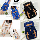 Women's College Style Canvas Satchel Splendid Backpack Rucksack Shoulder  Beige