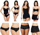 Panache Isobel Black Bikini Briefs, Tankini Bottoms & Swim Skirt Skirted Brief