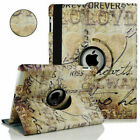 Leather 360 Degree Rotating Case For New iPad 2/3/4,Air 1,Air 2, Mini1234&Pro9.7