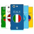 HEAD CASE DESIGNS FLAG PATCHES SET 2 CASE COVER FOR SONY XPERIA Z3 COMPACT D5803