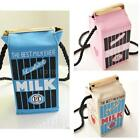 Canvas Cute Women Milk  Bag Mini Box Shoulder Handbag Cute Rope Clutch 3 Colors
