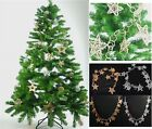 Long Gold Or Silver Wicker Star Garland Xmas Christmas Decoration