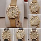 Hot Womens Crystal Swan Pendant Watch Rhinestone Crystal Dial Quartz Wristwatch
