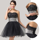 Sweetheart Beads Short Prom Cocktail Evening dress Gown Masquerade Party Dresses