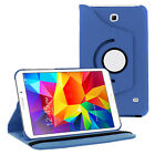 Folio Rotating Leather Case +Stand For Samsung Galaxy Tab 3 4 7.0 8.0 10.1 Lite