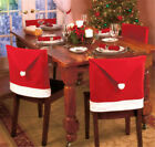 1pc Cozy Decor Santa Clause Red Hat Chair Back Cover Christmas Dinner Decoration