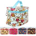 Women's Owl Colorful Cosmetic Makeup Bag Case Portabale Travel Toiletry Handbag