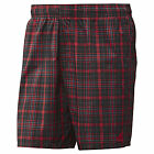 "adidas MENS CHECKED SWIM SHORTS SIZE XS 28"" WAIST RED SPORTS FASHION BRAND NEW"