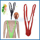 Vary Sexy Mens Mankini Costume Swimwear Thong Bikini Fancy Dress Stag Suspender