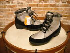 Sporto Lala Silver Waterproof Fur Trim Lace-up Ankle Boots NEW