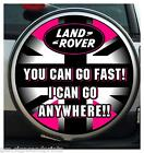 UNION JACK PINK & BLACK YOU GO FAST WHEEL COVER STICKER 4X4 (CHOICE OF SIZES)