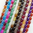XJ-507 12x8mm Faceted Mixed Color Agate loose bead 15.5 inch