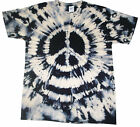 T Shirt Tie Dye, All Sizes,  Acid Wash Peace C.N.D, hand crafted in the UK