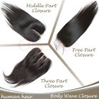 OneDor 100% Brazilian Virgin Remy Human Hair Straight Lace Top&Silk Base Closure