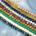 6x6mm CzechMates Tile Beads 50pc,pick your color.