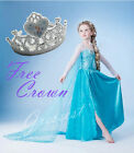 TU12 UkW 140916Elsa021 Crown Elsa Frozen Halloween Disney Party Fancy Dress 3-8y