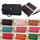 Womens Leather Zipper Zippered Coin Credit Card Wallet Clutch Purse Handbag Bag