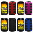 For HTC MYTOUCH 4G T-Mobile Fishbone Hybrid Hard Cover Silicone Case