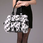 0369 Genuine Winter Women Real New Rabbit Fur Hand Shoulder Bag Purse