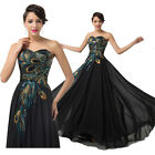 FREE P&P Peacock 50s Vintage Evening Dresses Long Party Prom Cocktail Masquerade