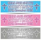"""PERSONALISED CHRISTENING BANNER 36"""" WIDE x 11"""" TALL - BAPTISM HOLY COMMUNION DAY"""