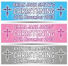 """2 x PERSONALISED CHRISTENING BANNER 36"""" WIDE x 11"""" TALL - BAPTISM HOLY COMMUNION"""