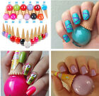 Mix Cute Candy Ice Cream Cone Colors Nail Polish Nail Art Varnish