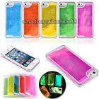 Glow in Night Dynamic Quicksand Liquid Clear Case Cover For Apple iPhone 5 5G 5S
