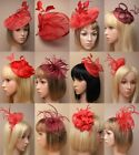 RED STYLISH FASCINATOR, CHEAPEST ON EBAY, WEDDING, RACES, ASCOT, HATINATOR LOT