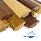 Solid Oak Wood Carpet Door Bars, Threshold Strips, Flooring Profiles. 890mm Long