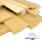 Oak Cover Strip Door Bars, Threshold Strip, Flooring Profile, Gap Cover 89cm Lng