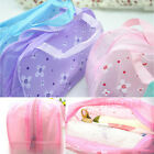 Floral Print Transparent Waterproof Cosmetic Bag Case Toiletry Bathing Pouch