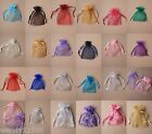 PACK OF 12 ORGANZA GIFT BAGS JEWELLERY PACKAGING POUCHES WEDDING FAVOUR PARTY