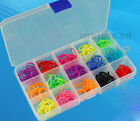 Plastic 15/10 Slots Adjustable Jewelry Storage Box Case Craft Organizer Beads