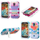 CUTE PATTERN WAVES AND HEARTS HYBRID COVER Phone Case Samsung Galaxy Light T399
