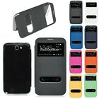 Samsung Galaxy Note 2 N7100 View Flip Case Pu Leather Window Stand Battery Cover