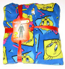 Tweety Bird 1pc Micro Fleece Hooded Pajama Set size Small, Large or X-Large,NWT