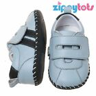 Little Blue Lamb Baby Soft Boys Leather First Shoes / Trainer Velcro Blue