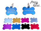 Pet ID Tags Personalised Engraved Anodized Aluminium Dog Cat Bones by PawGear