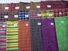 Woven homespun 100% cotton woven fabrics brights plaids solids stripes 1 yd x44""