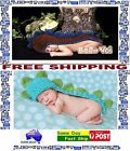 Crocheted Baby Boy Knit  Newborn Photo Crochet Costume  Photography Prop outfit