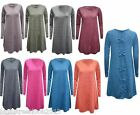 New Women's Ladies Bow Back Jersey Sleeve Stretch Casual Skater Swing Dress Top