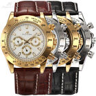 KS Imperial 4 Colors Man Day Date Automatic Mechanical Men's Leather Wrist Watch